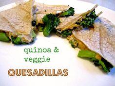 quinoa & veggie quesadillas!
