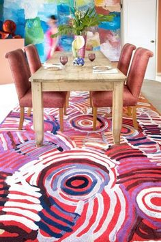 rugs - 'Celebration' by Minnie Pwerle Indigenous Artist & Designer Rugs Australia
