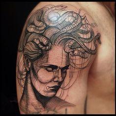 Medusa sketch tattoo .@victormontaghini