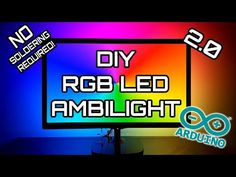 Cheap DIY Arduino Ambilight 2.0 (Revisited) RGB WS2812b LED Full Build & How-To - YouTube Arduino Projects, Led, To Youtube, Montage, Writing, Reading, Building, Gadgets, Buildings