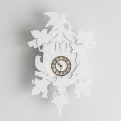 Pulp Function Large Cuckoo Clock, White / $34.50 Clock, Wall, Home Decor, White People, Watch, Decoration Home, Room Decor, Interior Design, Home Interiors