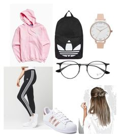 """""""👸🏼"""" by d-reeseh on Polyvore featuring adidas, Topshop, Ray-Ban and Olivia Burton"""