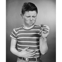 Boy holding cigar Canvas Art - (18 x 24)