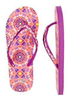 Purple Medallion Braided Flip Flops (original price, $10.90) available at #Justice
