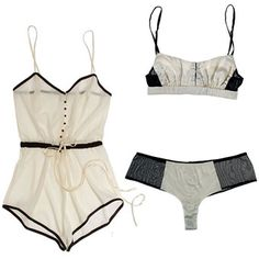 H'Moon. beautiful. lingerie. romper. black. white . elegant