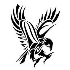Tribal Abstract Hawk Tattoo Design