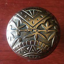 Antique Victorian Picket Fence  OrientaL Branford Cast Brass Doorknob