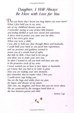 A letter to my daughters words pinterest parents poem and child for my daughters xxxooo altavistaventures Gallery
