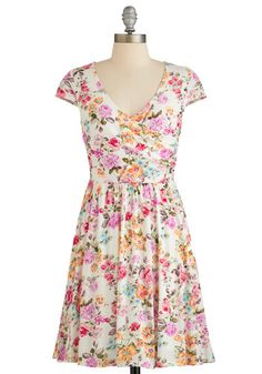 Cultivate Character Dress. Just as you tend to the new sprouts in your garden, this white floral dress fosters the flourishes of your personality. NaN