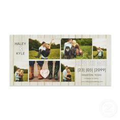 White Country Save the Date Photo Cards