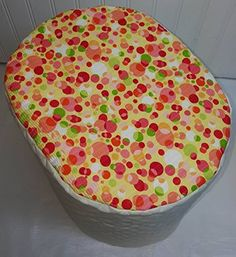 Quilted Orange  Yellow Polka Dots Keurig B40 B45 K45 B60 K65 Brewing Systems Cover Cream *** Be sure to check out this awesome product.