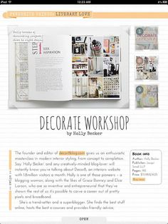 Decorate Workshop Review by Gathered from Mollie Makes - beautiful review! #decorateworkshop