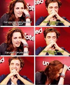 "K to Rob: ""can you make your best sexy face?"" *Rob's face lol* Me: done. pic.twitter.com/XssybZ31TO"