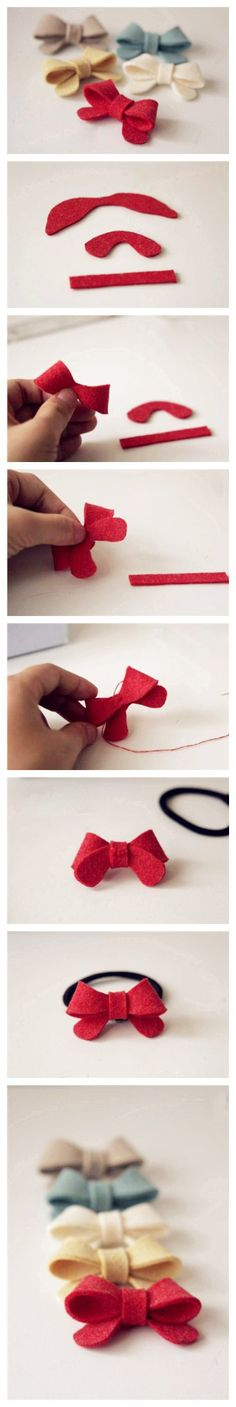 A cute bow that can be made in seconds