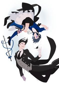 Black Butler (Kuroshitsuji) Sebastian Michaelis and Ciel Phantomhive Black Butler Anime, Black Butler Comics, Black Butler 3, Sebastian Kuroshitsuji, Black Butler Kuroshitsuji, Undertaker, Angel Of Death, Noragami, Sebaciel
