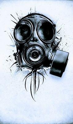 Death Blooms – Graffiti World Gas Mask Drawing, Gas Mask Art, Masks Art, 4 Tattoo, Mask Tattoo, Tatoo Art, Skull Tattoos, Body Art Tattoos, Sleeve Tattoos