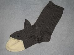 Ravelry: J.A.W.S.S. (Just Afterthought White Shark Socks) pattern by Jeanine Simonin