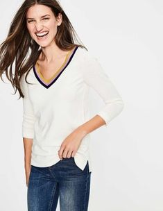 Discover our latest range of luxuriously cosy sweaters for women at Boden. Shop the best cardigans and cashmere jumpers and stay warm this winter. Boden Uk, Cashmere Jumper, Stay Warm, Knitwear, Sweaters For Women, Feminine, Price Point, Cricket, Casual