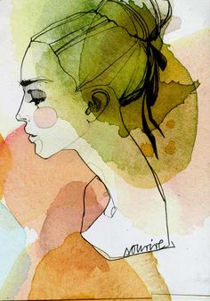 Amazing watercolor illustrations by Berlin-based graphic designer and illustrator Ekaterina Koroleva. Art And Illustration, Watercolor Illustration, Illustration Editorial, Art Watercolor, Watercolor Portraits, Simple Watercolor, Watercolor Landscape, Watercolor Animals, Watercolor Background