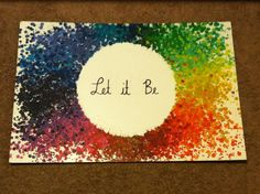 "Melted Crayon Art -- Circular Chromatic Drip Design with Text -- 20""x30"""