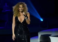Mariah Carey Photos - Singer/songwriter Mariah Carey performs during the launch of her residency \