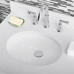 "Ka 36"" Single Bathroom Vanity Set & Reviews | Joss & Main 36 Inch Bathroom Vanity, Vanity Sink, Bathroom Vanities, Porcelain Sink, Engineered Stone, Stone Countertops, Bathroom Essentials, Undermount Sink, Cabinet Styles"