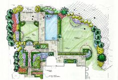 Landscape Plan Drawing - Home Design Ideas Landscape Design Plans, Landscape Architecture Design, Landscape Architects, Landscape Drawings, Cool Landscapes, Landscape Paintings, The Plan, How To Plan, Plan Drawing