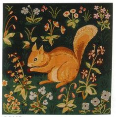 Medieval Squirrel Tapestry