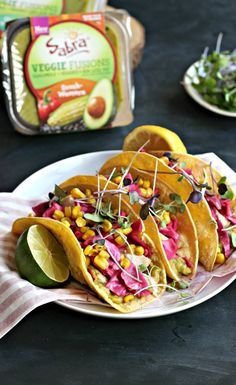 Grilled Cumin Chicken Tacos with Guacamole and Pickled Red Cabbage