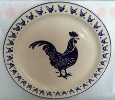 Emma Bridgewater Blue Hen Cake Plate