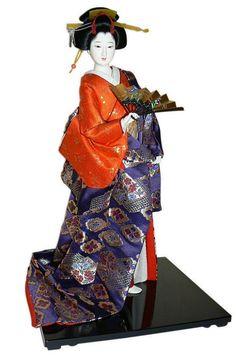 Japanese vintage noble women doll, 1960-70