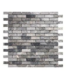 Silver Grey Quartzite Slate Split Face Mosaic Topps