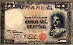 5000 pessetes, 1938