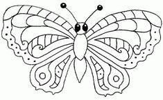 vlinders kleurplaat - Google zoeken