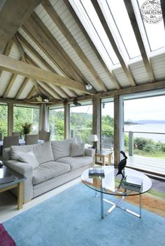 Idea : convert deck to living room with skylights and make old lr into dining room