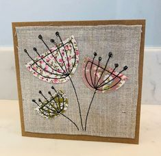 Freehand Machine Embroidery, Machine Embroidery Projects, Machine Embroidery Applique, Embroidery Patterns, Fabric Postcards, Fabric Cards, Embroidery Cards, Free Motion Embroidery, Textiles