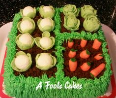Now these kinda vegetables I can handle! #sugargarden #afoolscakes