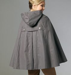 not really a coat but I'd love to make this cape with the hood though