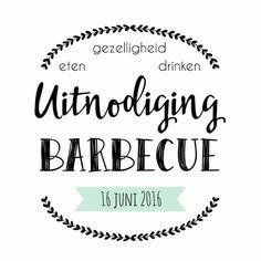 Uitnodiging Barbecue - WW, verkrijgbaar bij #kaartje2go voor €10,95