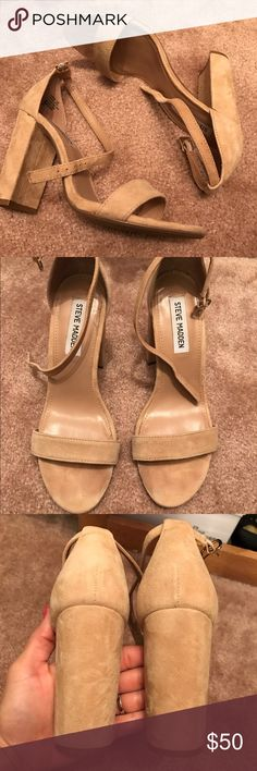 Steve Madden suede heels Only worn once for a wedding, PERFECT CONDITION! Gorgeous shoe, and comfortable! Steve Madden Shoes Heels
