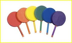 Champion Sports 7-inch Racquetball Foam Paddle (Set of 6) by Champion Sports. $62.44. The colorful Racquetball Foam Paddle Set from Champion Sports is a fun and safe paddle game for kids. This set includes 6 multi-colored racquetball size paddles. The paddles are made of soft, durable foam with 7in plastic handles. They are great for classroom and P.E. use. One of each color paddle is included in the set, so kids can choose from their favorite: red, orange, yellow...