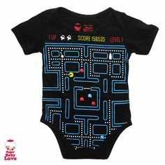 baby pacman onesie by SugarBabyLove on #Etsy $17.00