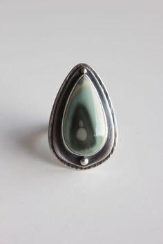 Aquifer....sterling silver imperial japer ring by gallerydarrow