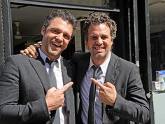 Mark Ruffalo | 29 Actors Hanging Out With Their Body Doubles