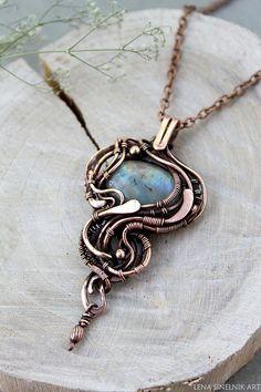 Labradorite pendant Wire wrapped jewelry  Wire wrap necklace