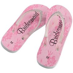 Bridesmaid Bling Flip Flops