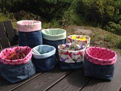 Anette L syr och skapar: Jeanspåsar - Gör så här!