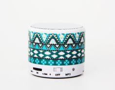 Aztec Tribal Green Wireless Bluetooth Mini Speaker from Ac. Saved to Mini Bluetooth Speaker. Music Gadgets, Cool Tech Gadgets, New Gadgets, Wearable Device, Wearable Technology, Stocking Stuffers For Teens, Mini Bluetooth Speaker, Aztec, Green