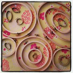 "Many, many sizes! Embroidery Hoops from 1"" to 9"". Tiny,  Round and Oval 😊"