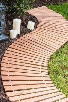 Garden & Outdoors - Botancial Wooden Walkway - EziBuy New Zealand Garden Paths, Garden Bridge, Garden Tips, Garden Ideas, Paver Pathway, Gravel Path, Wooden Walkways, Outdoor Spaces, Outdoor Decor